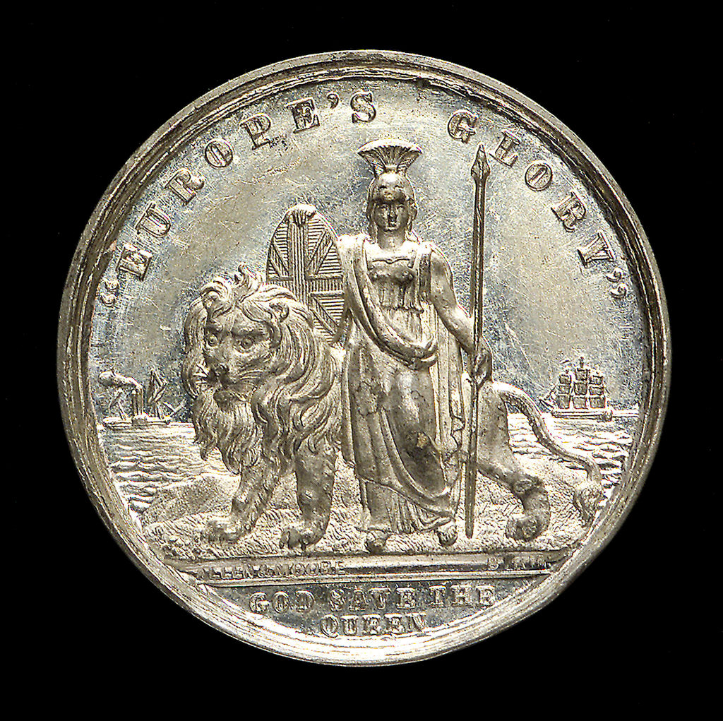 Detail of Counter commemorating Queen Victoria; reverse by Allen & Moore