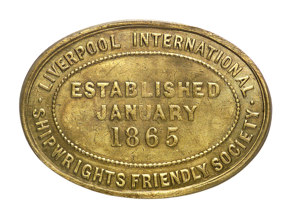 Detail of Counter commemorating the Liverpool International Shipwrights' Friendly Society; reverse by unknown