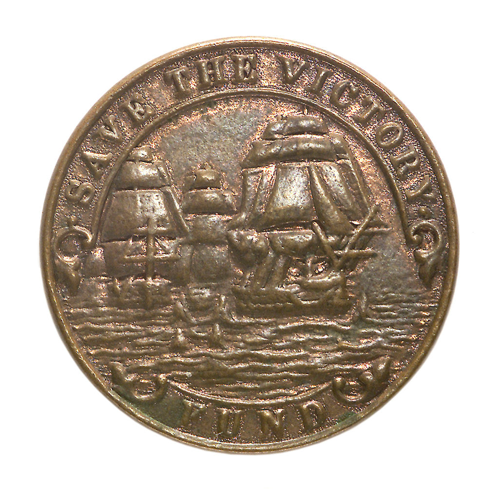 Detail of Medalet commemorating the raid on Zeebrugge and Ostend, 1918; obverse by unknown