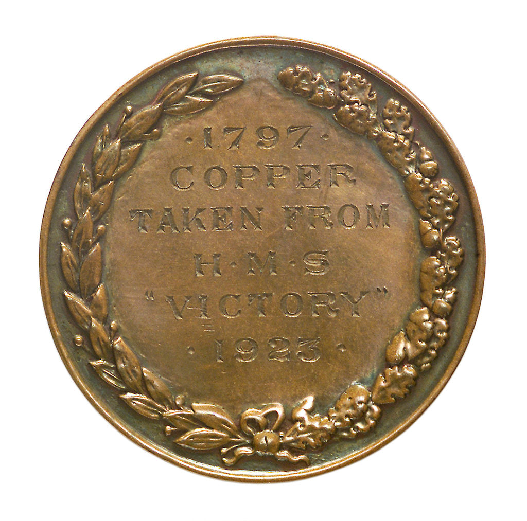 Detail of Medalet commemorating Save the 'Victory' Fund; reverse by unknown