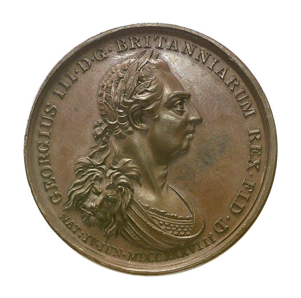 Detail of Medal commemorating the victories under George III; obverse by J. Westwood