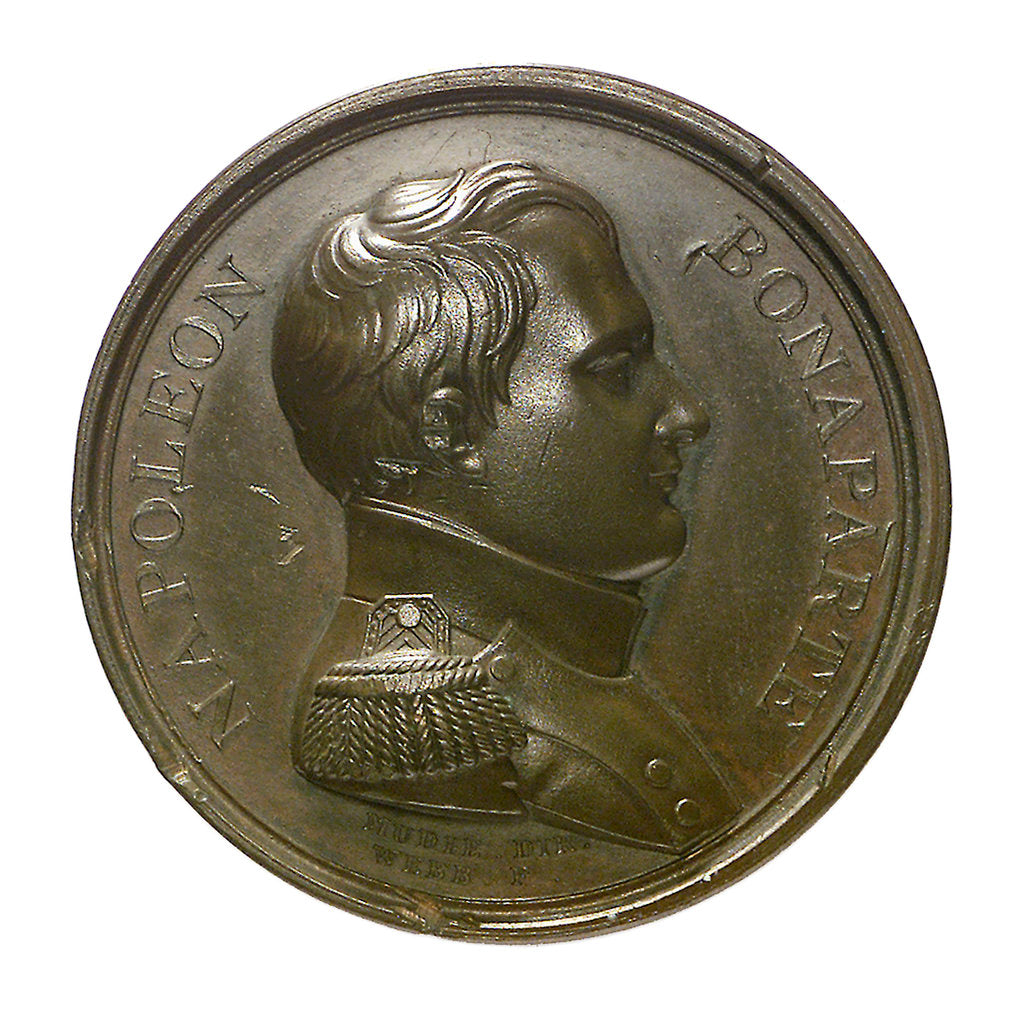 Detail of Medal commemorating the surrender of the Emperor Napoleon I, 1815; obverse by J. Mudie