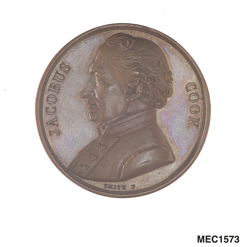 Detail of Medal commemorating Captain James Cook (1728-1779) by Smith