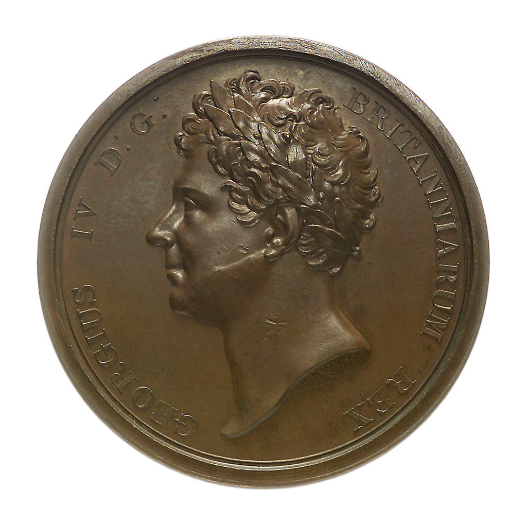 Detail of Medal commemorating the visit of King George IV to Southampton, 1823; obverse by W. Wyon