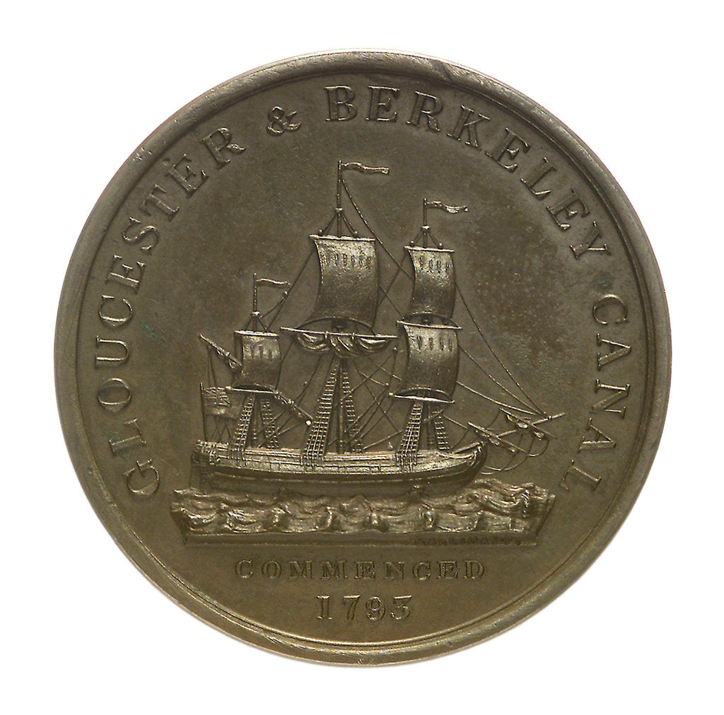 Detail of Medal commemorating the Gloucester and Berkeley Canal; obverse by T. Halliday