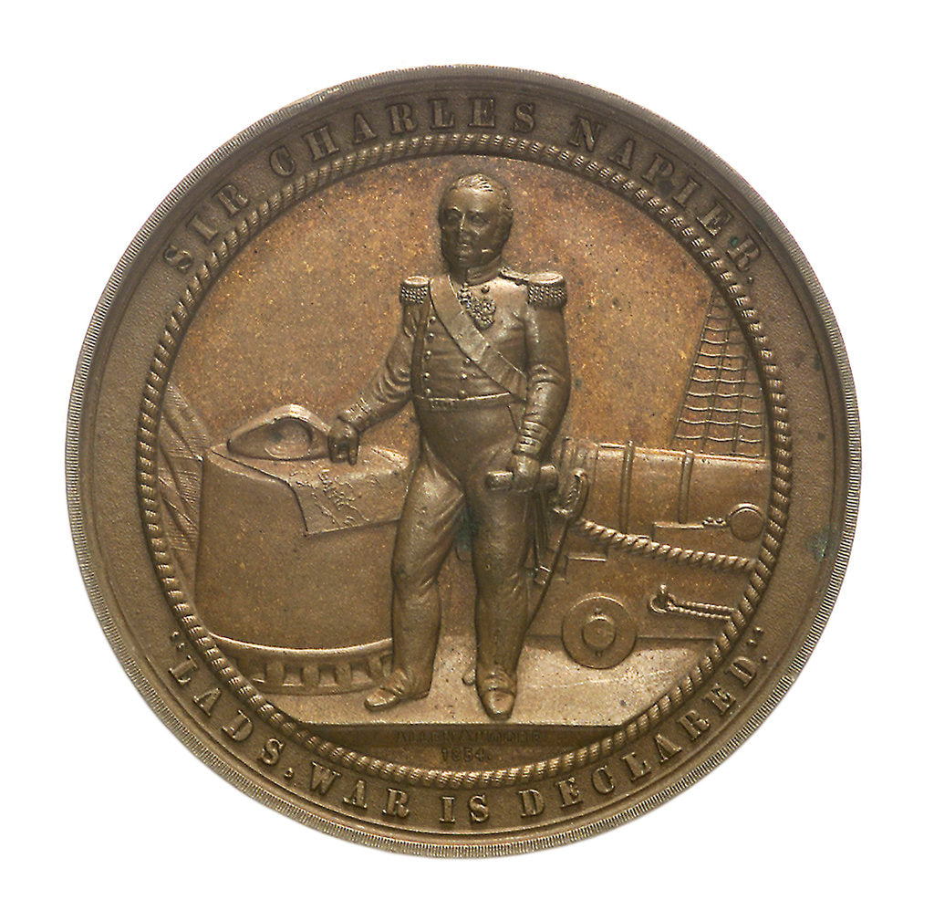 Detail of Medal commemorating Admiral Sir Charles Napier (1786-1860); obverse by Allen & Moore