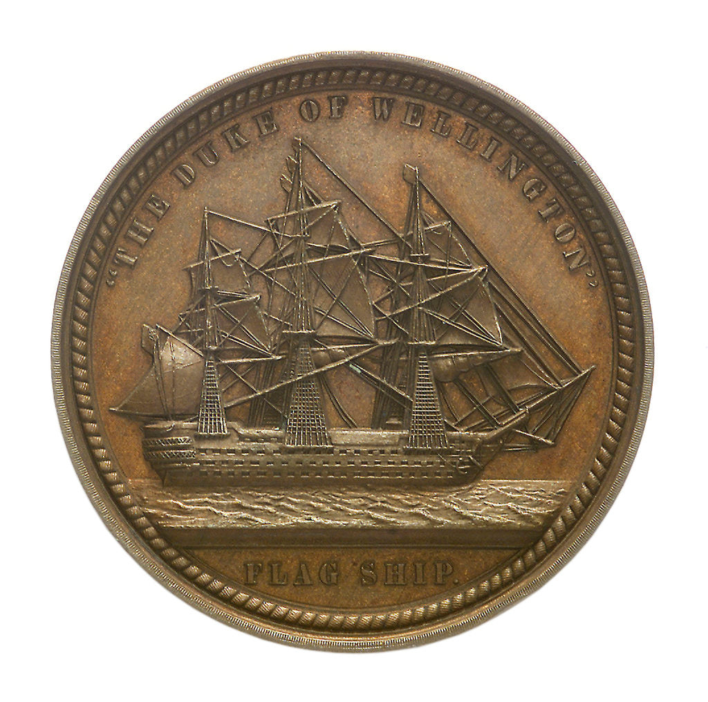 Detail of Medal commemorating Admiral Sir Charles Napier (1786-1860); reverse by Allen & Moore