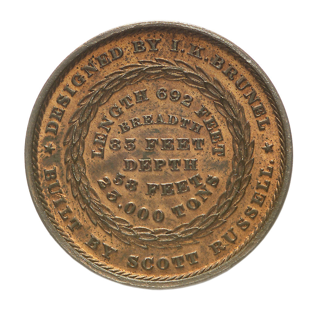 Detail of Medal commemorating the SS 'Great Eastern'; obverse by unknown