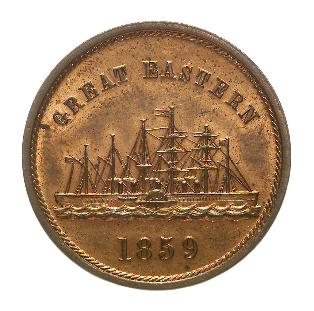Detail of Medal commemorating the SS 'Great Eastern'; reverse by unknown