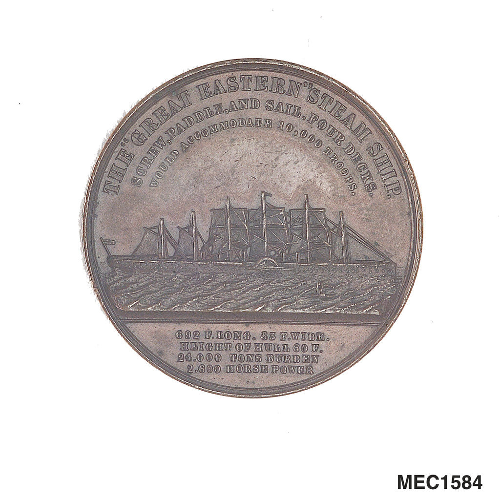 Detail of Medal commemorating the SS 'Great Eastern' by J. Moore