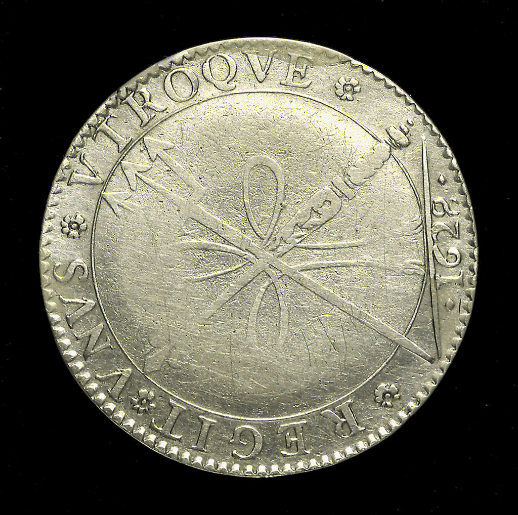 Detail of Coin pattern - shilling; obverse by N. Briot