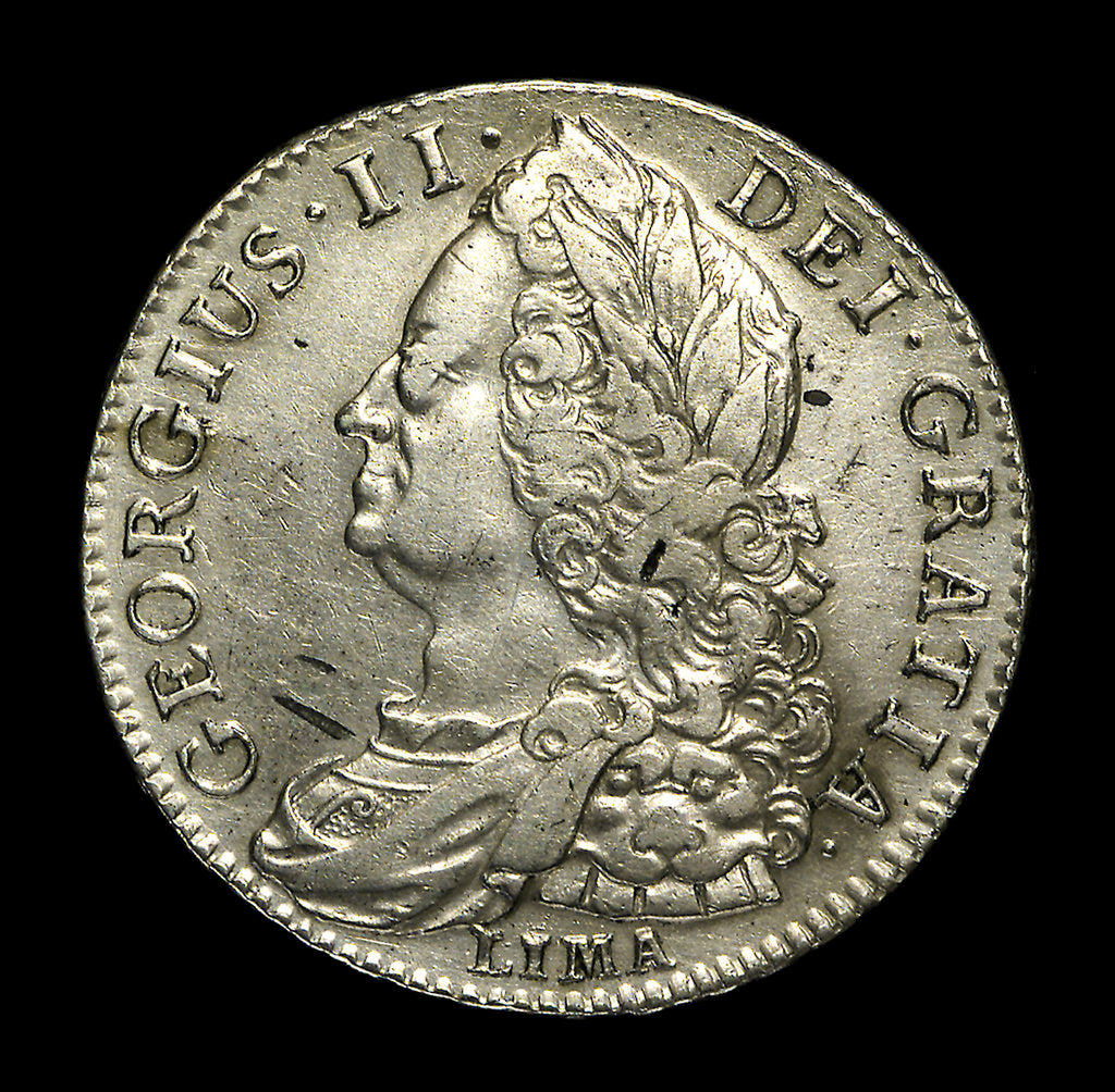 Detail of Lima half-crown; obverse by unknown