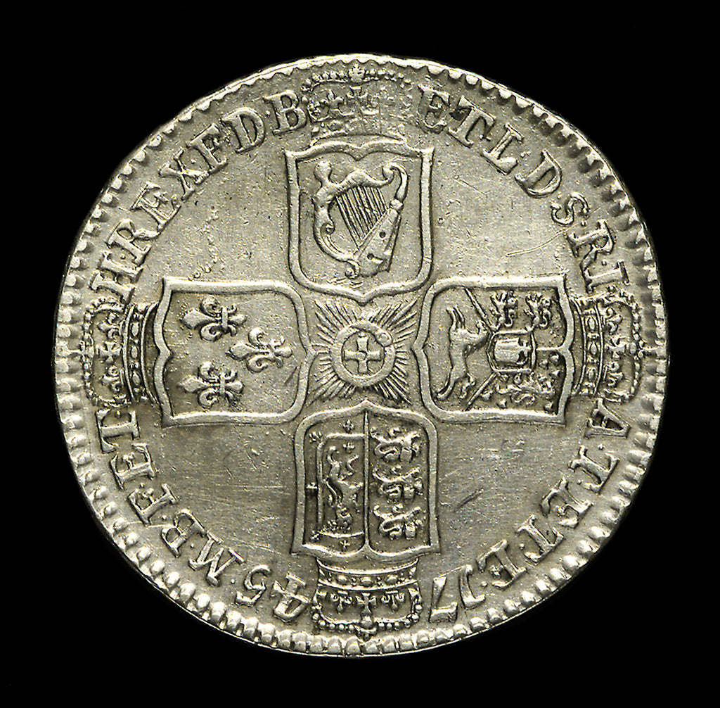 Detail of Lima half-crown; reverse by unknown