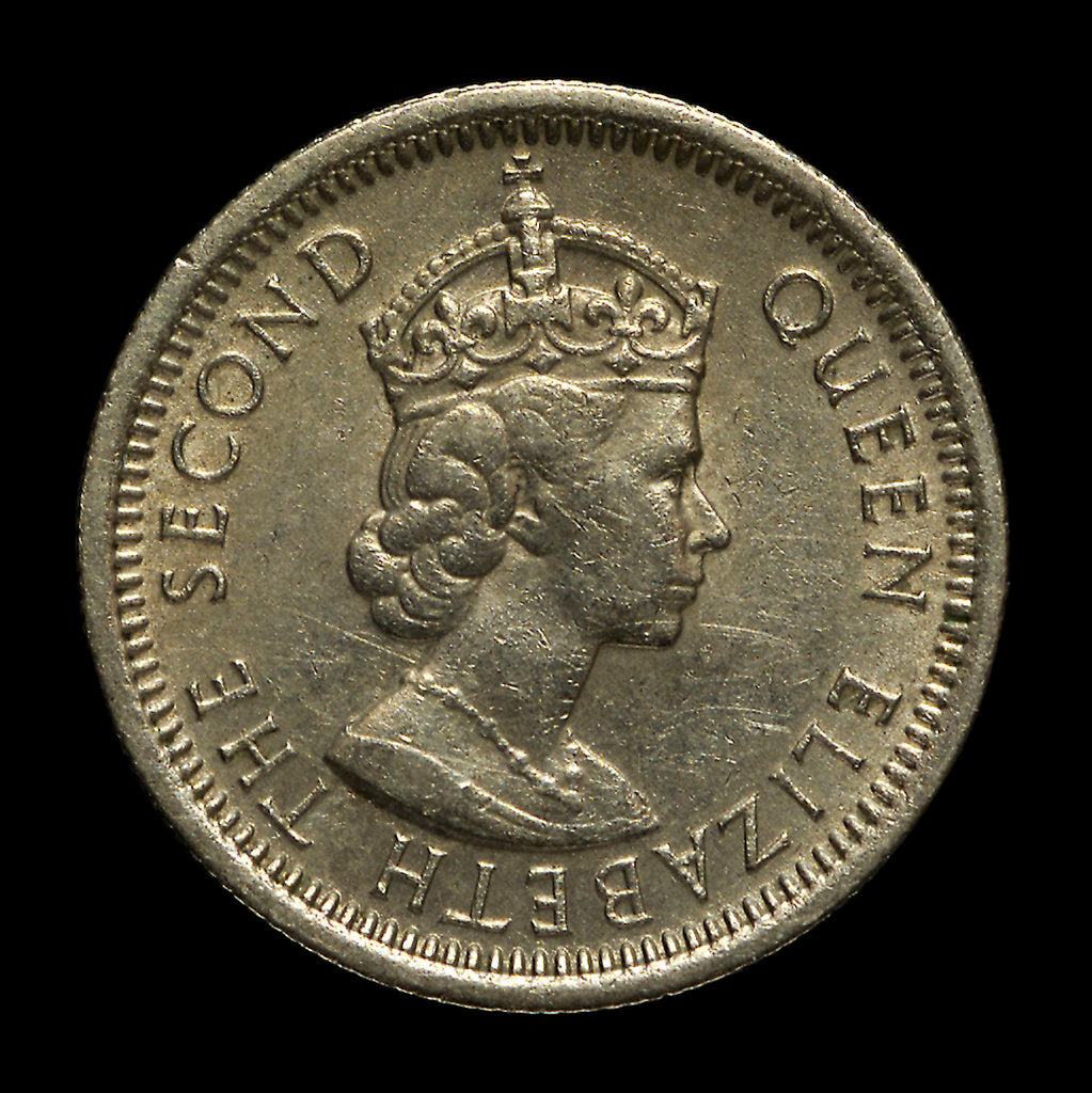 Detail of 10 cents coin; obverse by unknown