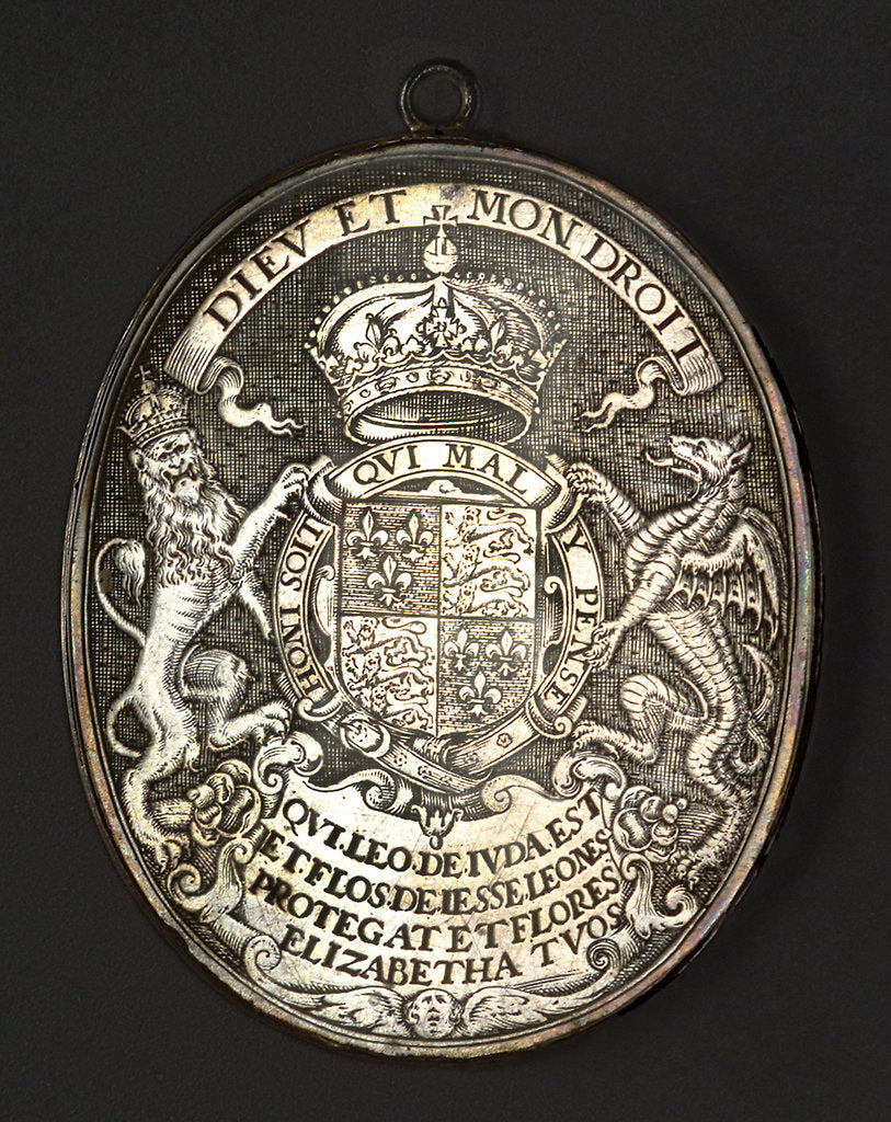 Detail of Counter commemorating Queen Elizabeth I; reverse by Simon van de Passe