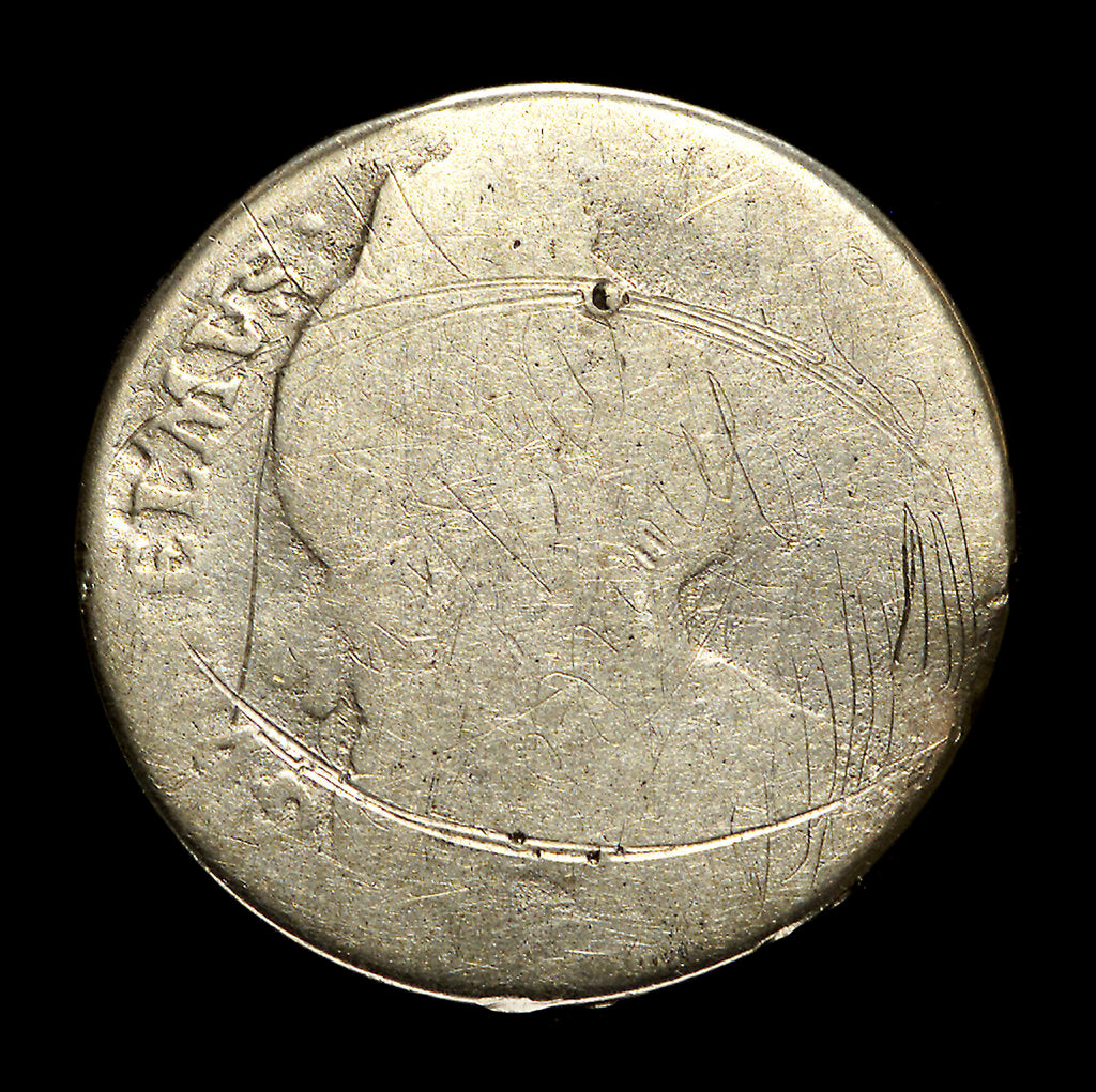 Detail of Shilling; obverse by unknown