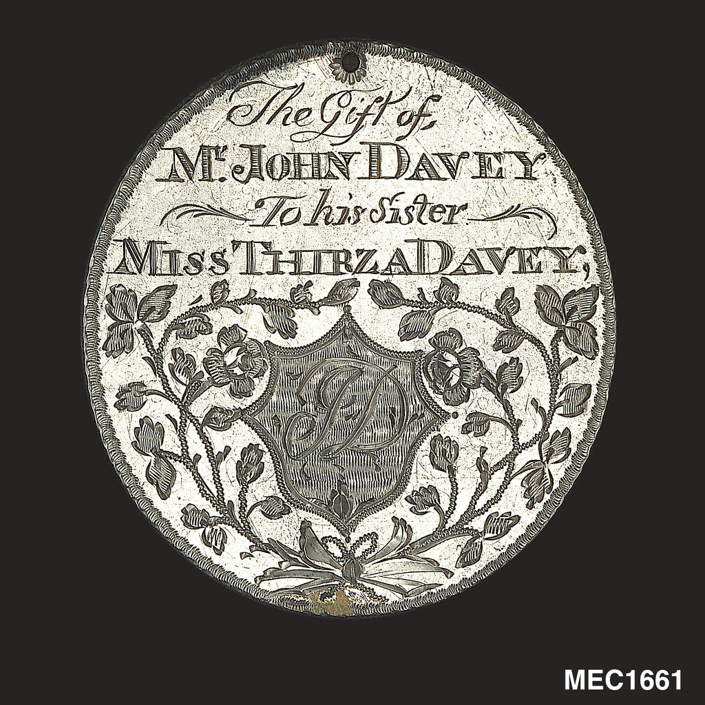 Detail of Engraved commemorative coin by unknown