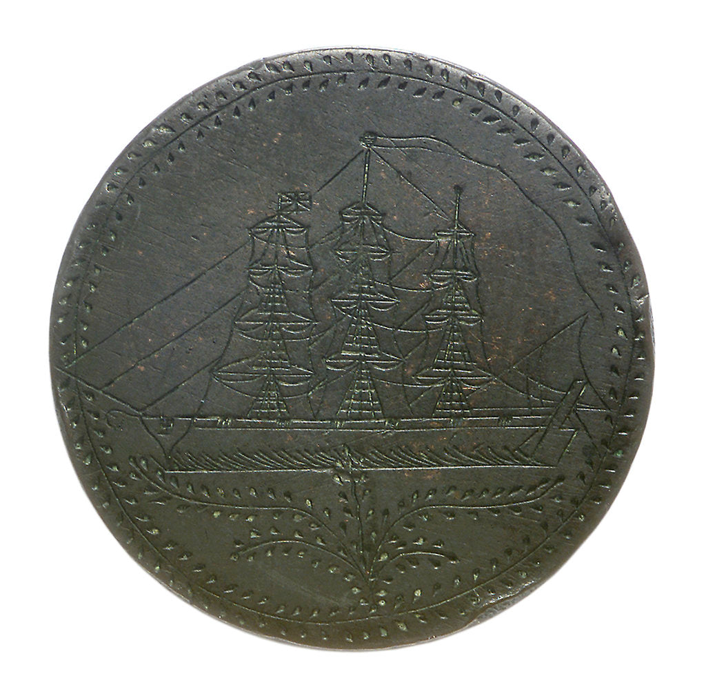 Detail of Engraved commemorative coin; obverse by unknown