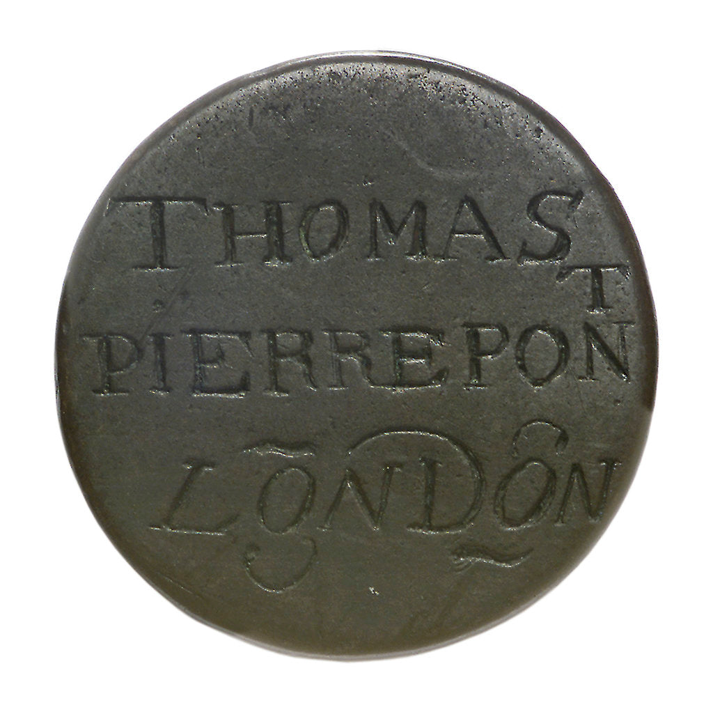 Detail of Halfpenny; reverse by unknown