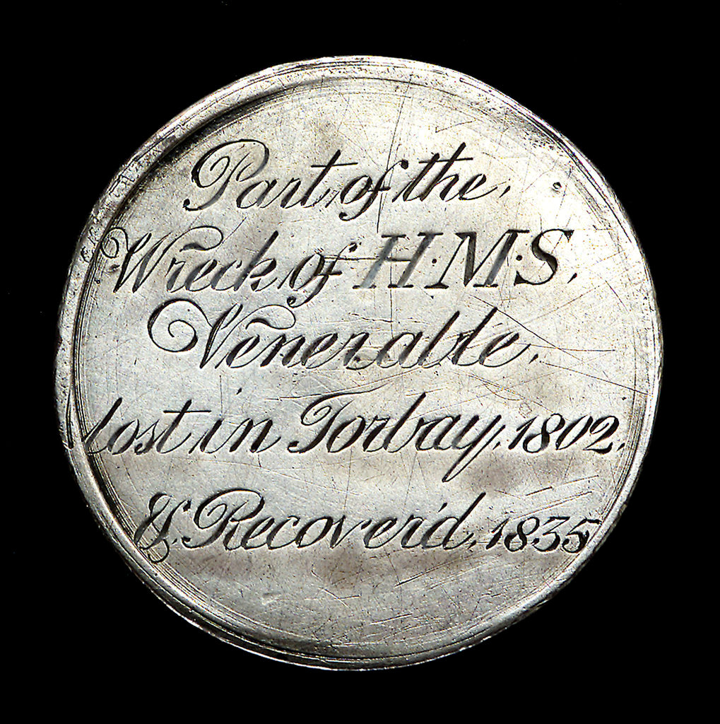 HMS 'Venerable'; obverse by unknown