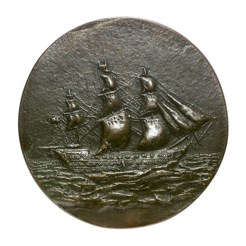 Detail of Medal commemorating the Admiral of the Fleet, Sir George Seymour (1787-1870); reverse by Feodora Gleichen