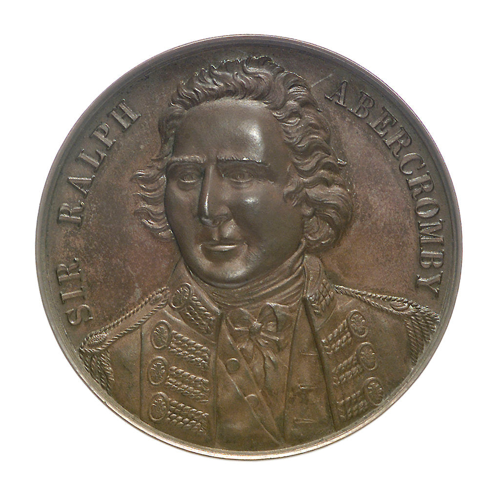 Detail of Medal commemorating the centenary of the capture of Trinidad, 1797 and Sir Ralph Abercromby (1734-1801); obverse by unknown