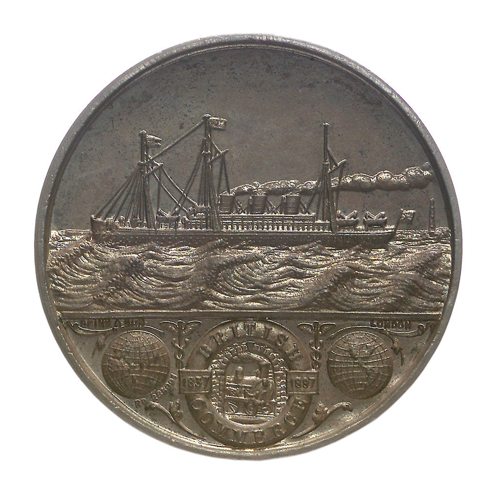 Detail of Medal commemorating British Commerce and Queen Victoria's Diamond Jubilee; reverse by Spink & Son Ltd.