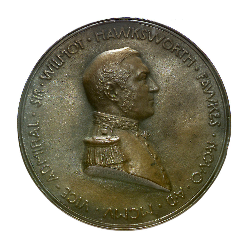 Detail of Medal commemorating the Vice Admiral Sir Wilmot H. Fawkes; obverse by T. Spicer Simson
