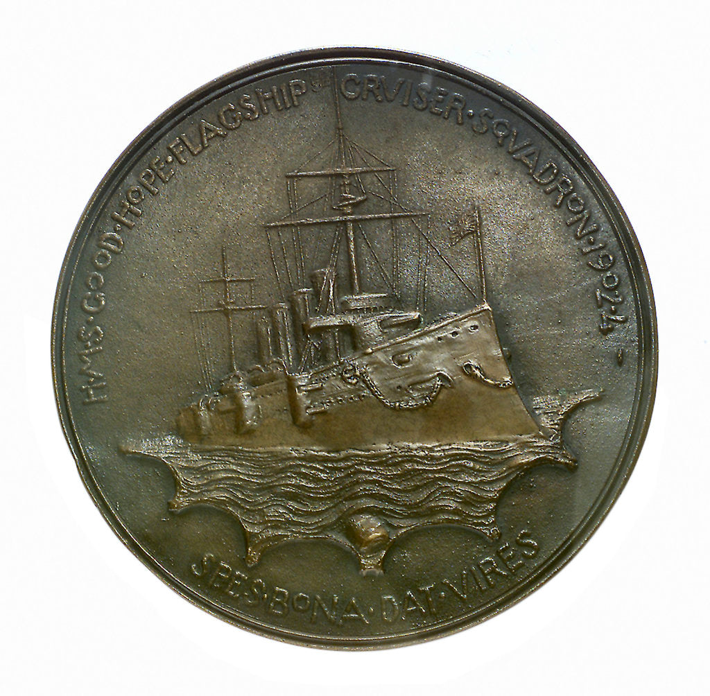Detail of Medal commemorating the Vice Admiral Sir Wilmot H. Fawkes; reverse by T. Spicer Simson
