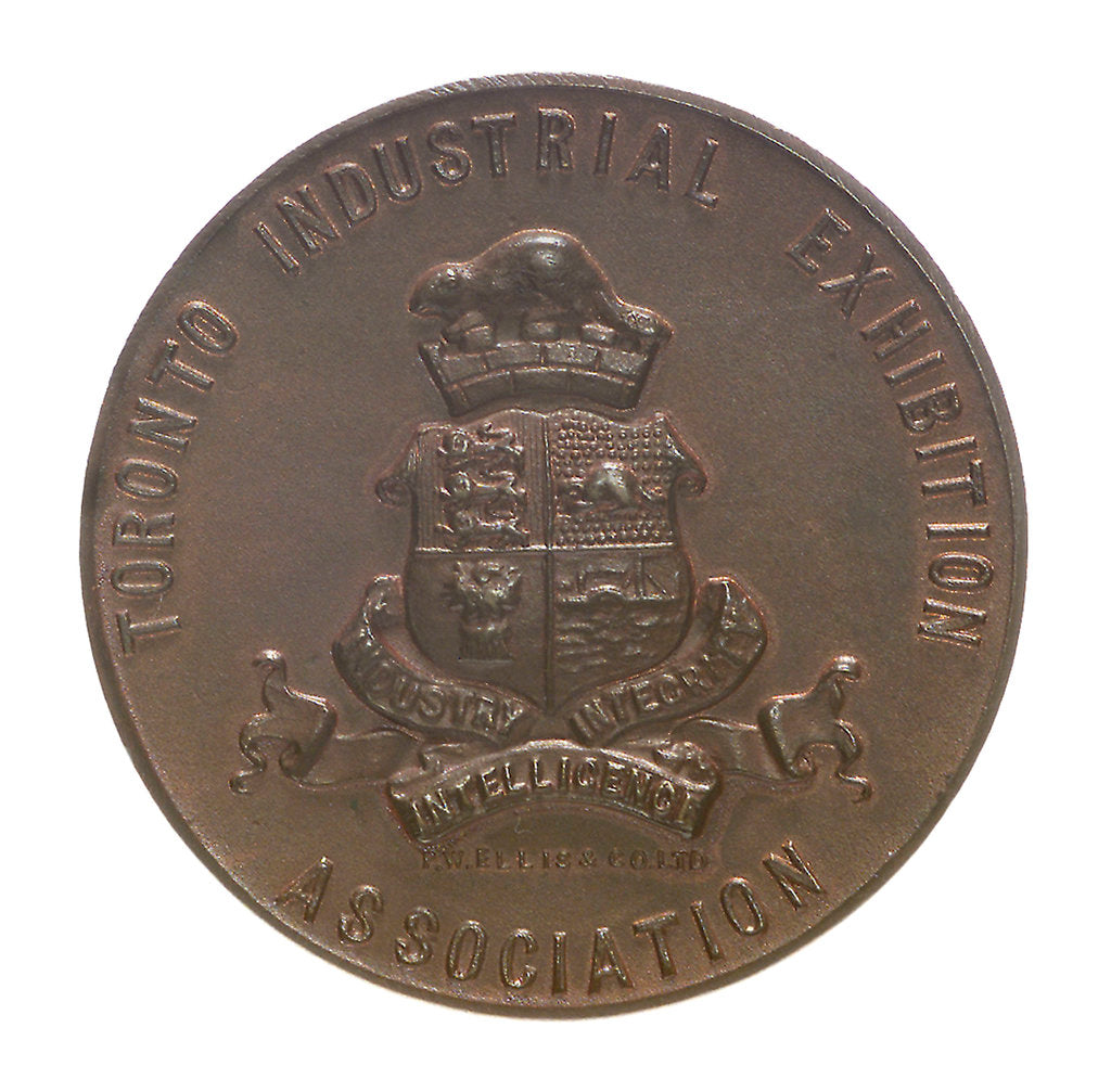 Detail of Medal commemorating the Toronto Industrial Exhibition and Admiral Lord Charles Beresford (1846-1919); reverse by P.W. Ellis & Co.