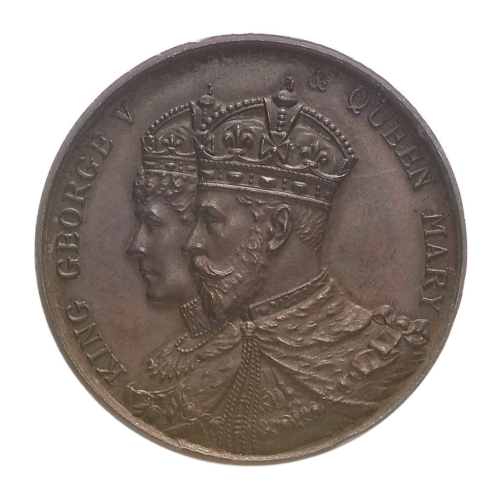 Detail of Medal commemorating the Coronation of George V, 1911; obverse by unknown