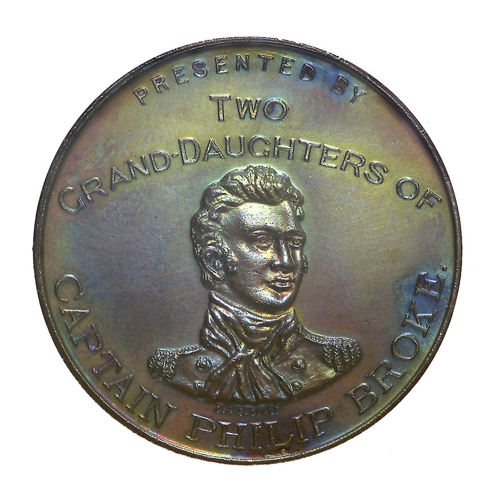 Detail of Medal commemorating the centenary of the 'Shannon' and 'Chesapeake' action, 1913; obverse by C & S Co.