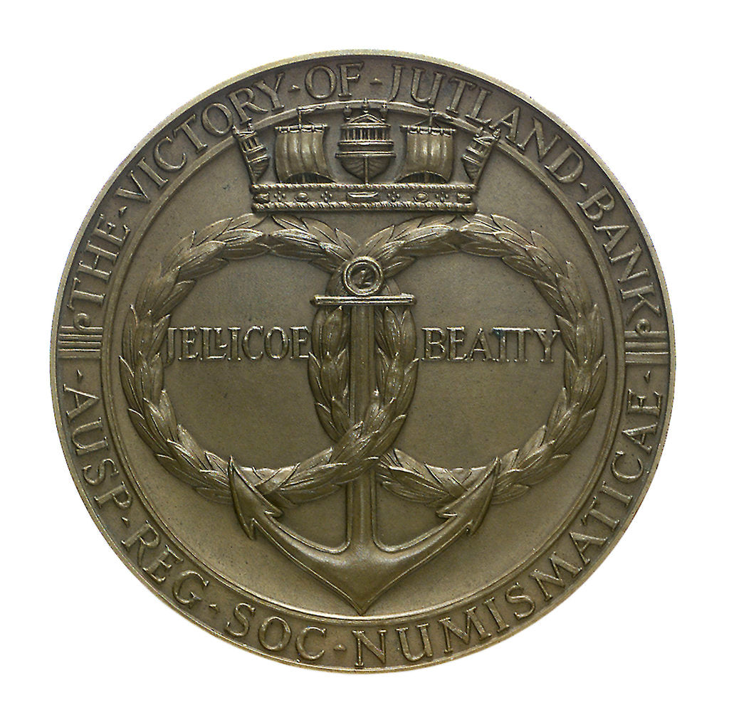 Detail of Medal commemorating the Battle of Jutland, 1916; obverse by Harold Stabler