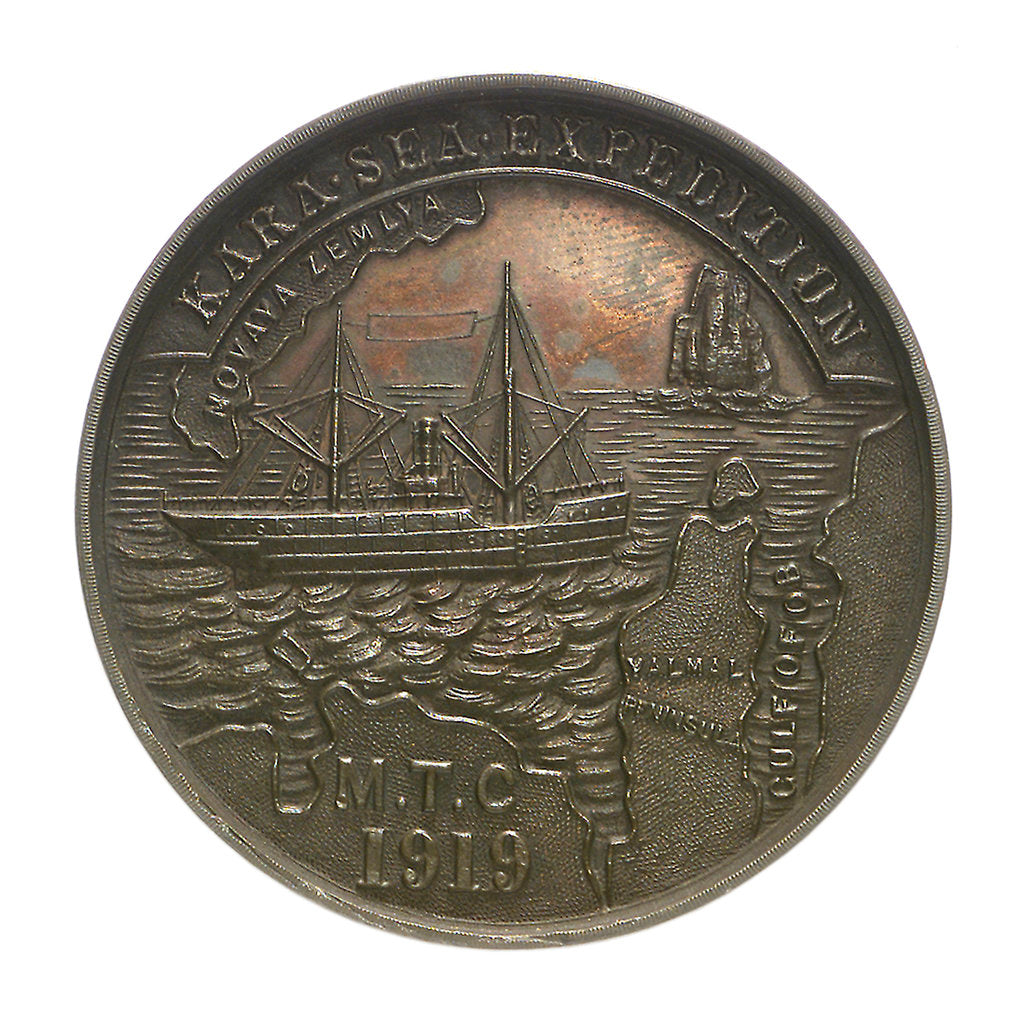 Detail of Medal commemorating the Kara Sea Expedition, 1919; obverse by unknown