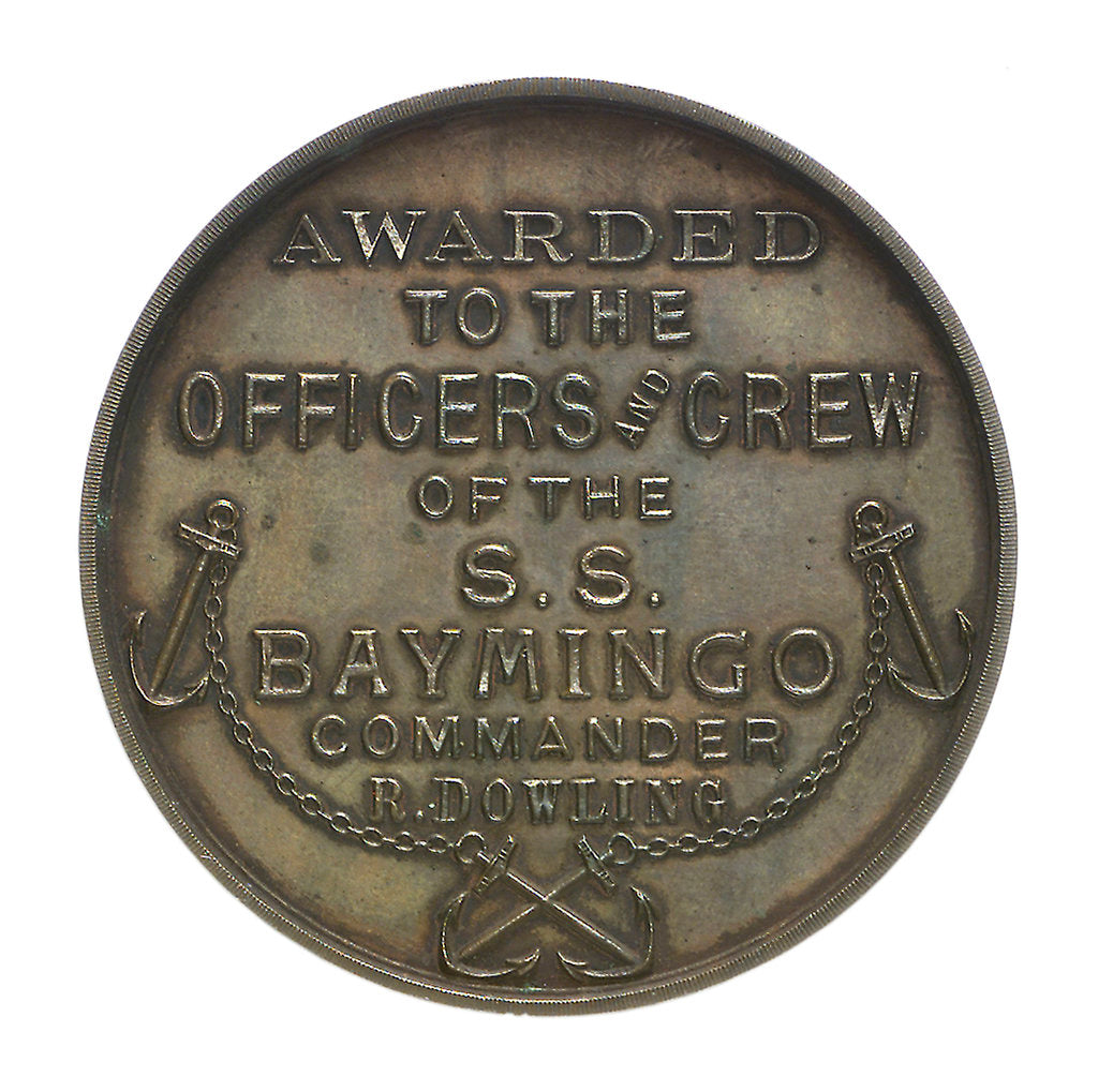 Detail of Medal commemorating the Kara Sea Expedition, 1919; reverse by unknown
