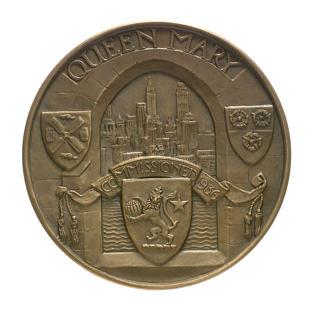 Detail of Medal commemorating the 'Queen Mary' commissioned 1936; obverse by Gilbert Bayes