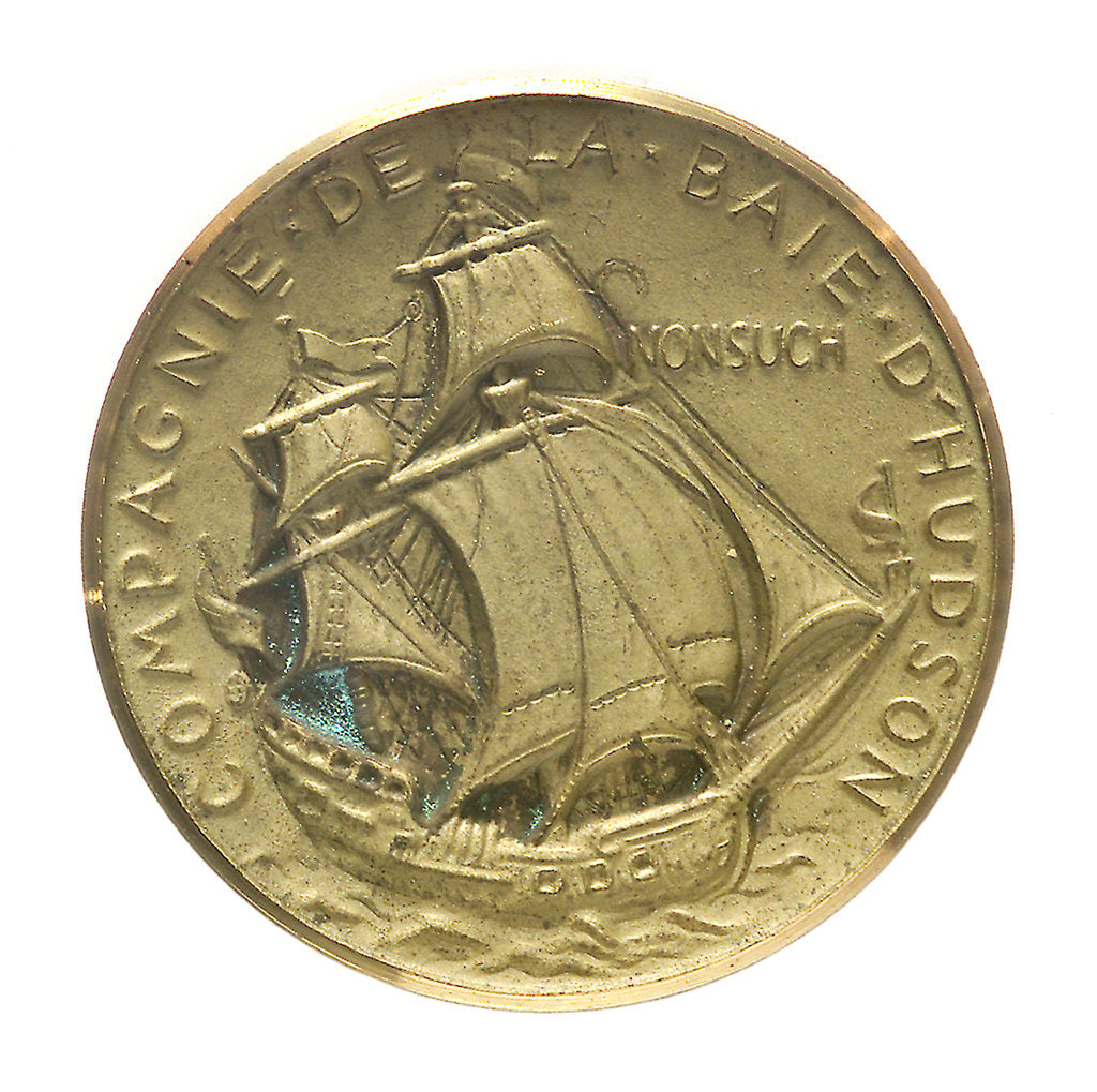 Detail of Medal commemorating the bicentenary of Cook's second voyage, 1969; reverse by D. de Pedery Hunt