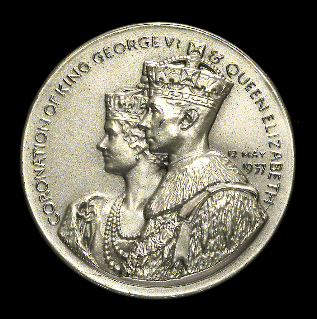 Detail of Medal commemorating the Coronation of George VI, 1937; obverse by Spink & Son Ltd.