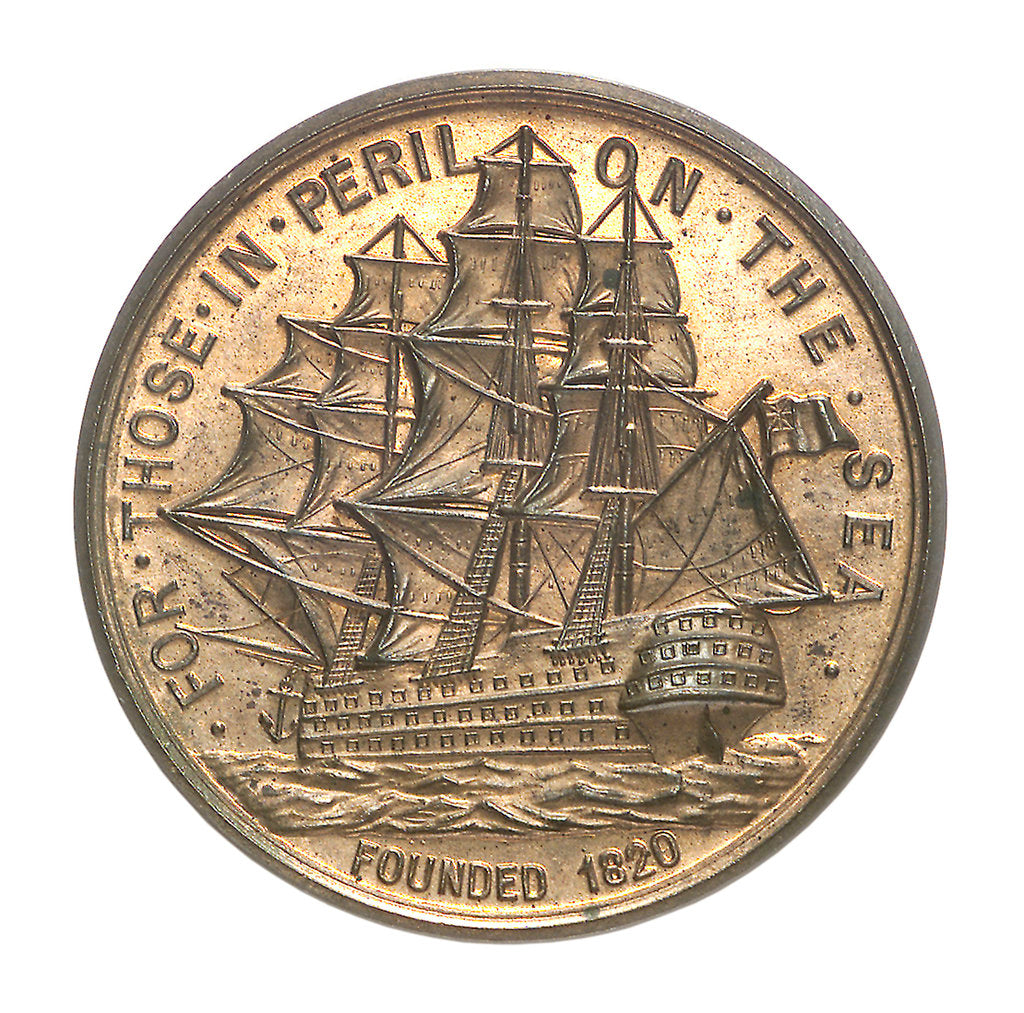 Detail of Medal commemorating the Liverpool Seamen's Friend Society; reverse by P. Vaughton & Sons