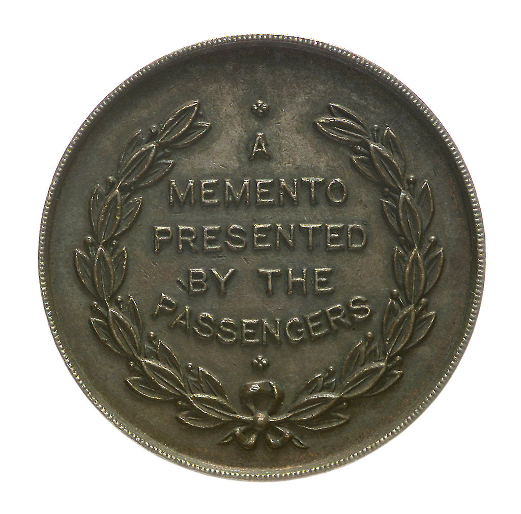 Detail of Medal commemorating the wreck of SS 'Brinpura', 1919; reverse by unknown