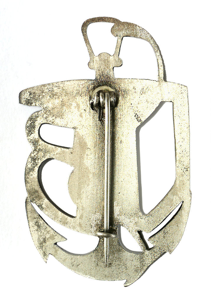 Detail of U-boat badge; reverse by unknown