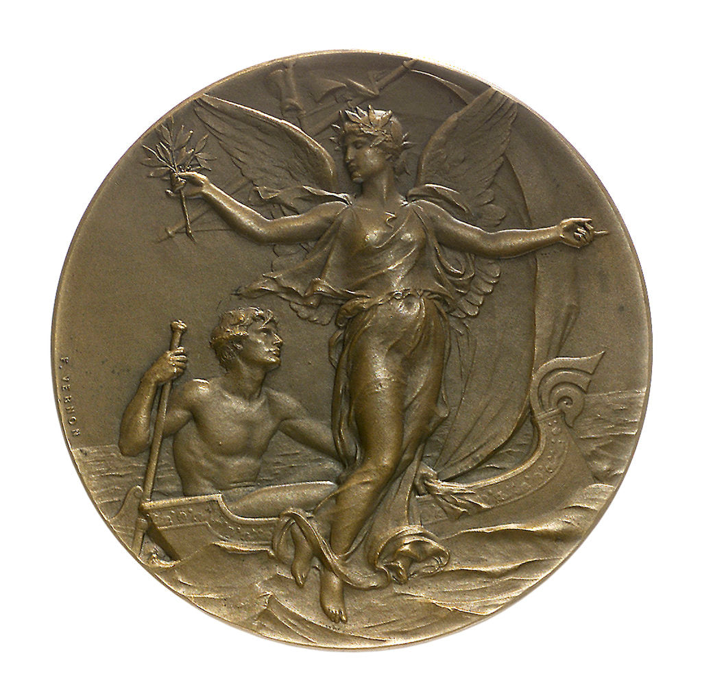 Detail of Medal commemorating the Yacht Club of France; obverse by F. Vernon