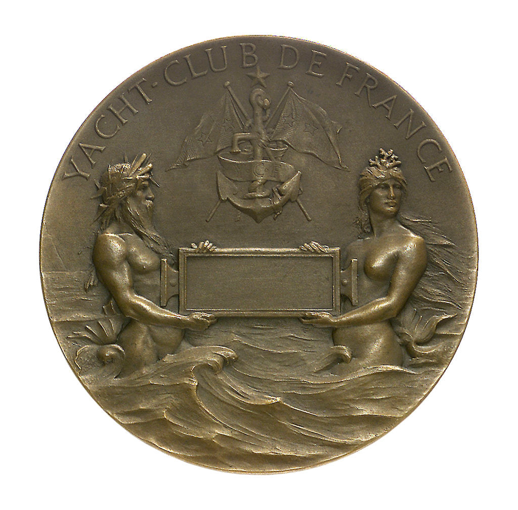 Detail of Medal commemorating the Yacht Club of France; reverse by F. Vernon