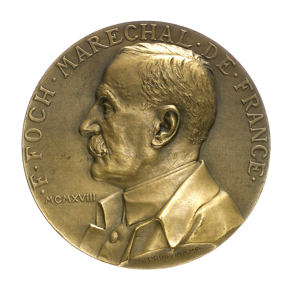Detail of Medal commemorating the Armistice, 1918; obverse by Georges Henri Prud'homme