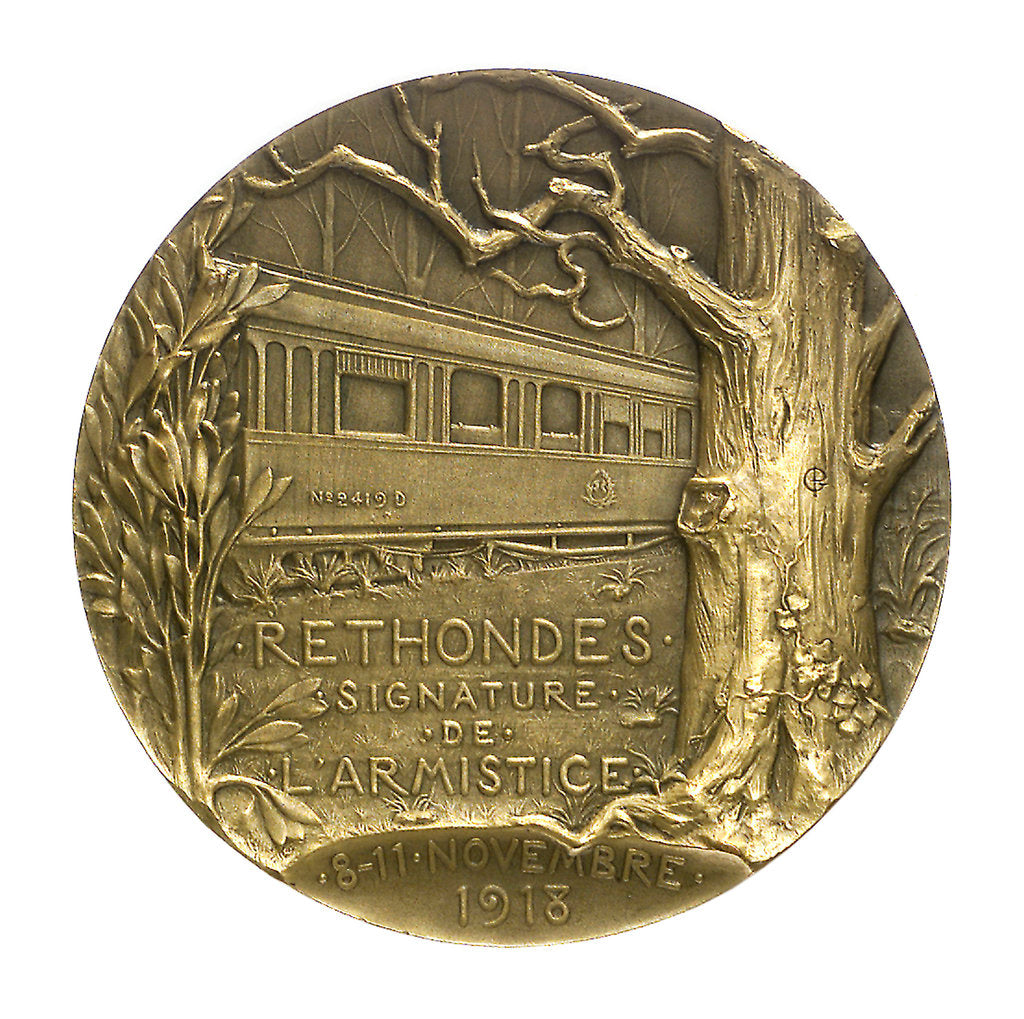 Detail of Medal commemorating the Armistice, 1918; reverse by Georges Henri Prud'homme