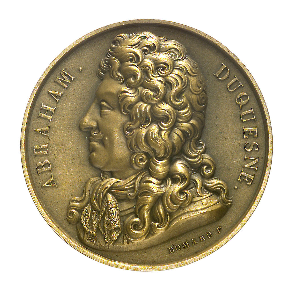 Detail of Medal commemorating Vice-Admiral Abraham Duquesne (1610-1688) and the cruiser 'Duquesne'; obverse by J.F. Domard