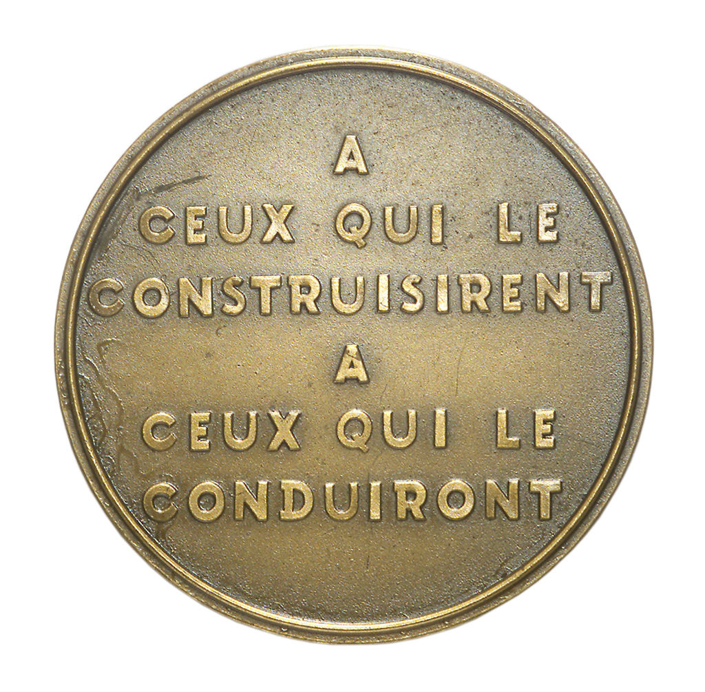 Detail of Medal commemorating the battleship 'Dunkerque'; reverse by Pierre Turin