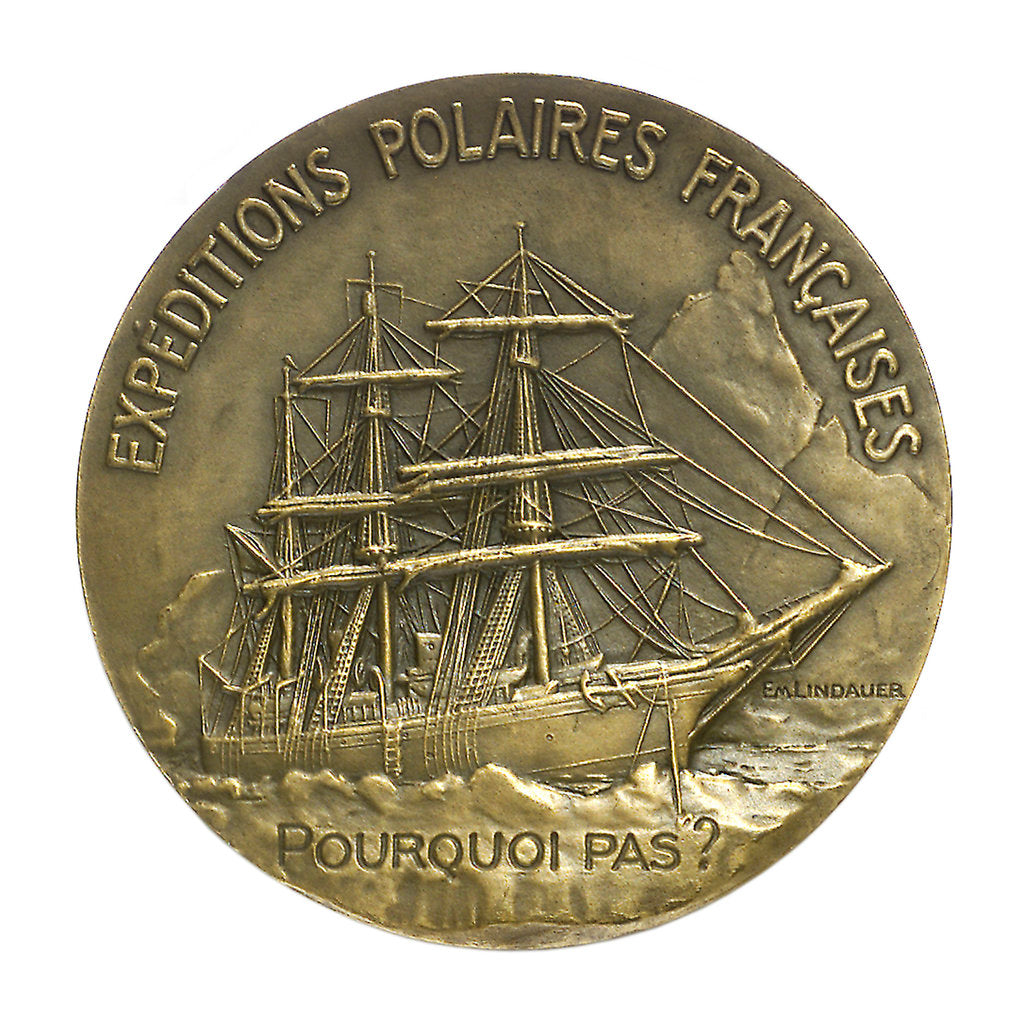 Detail of Medal commemorating Jean Baptiste Charcot (1867-1936) and the 'Pourquoi Pas'; reverse by Paul Richer