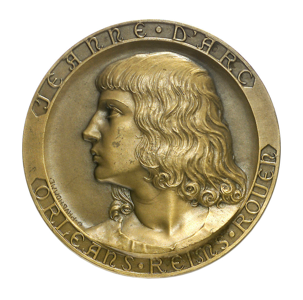 Detail of Medal commemorating the school cruiser 'Jeanne d'Arc'; obverse by Georges Henri Prud'homme