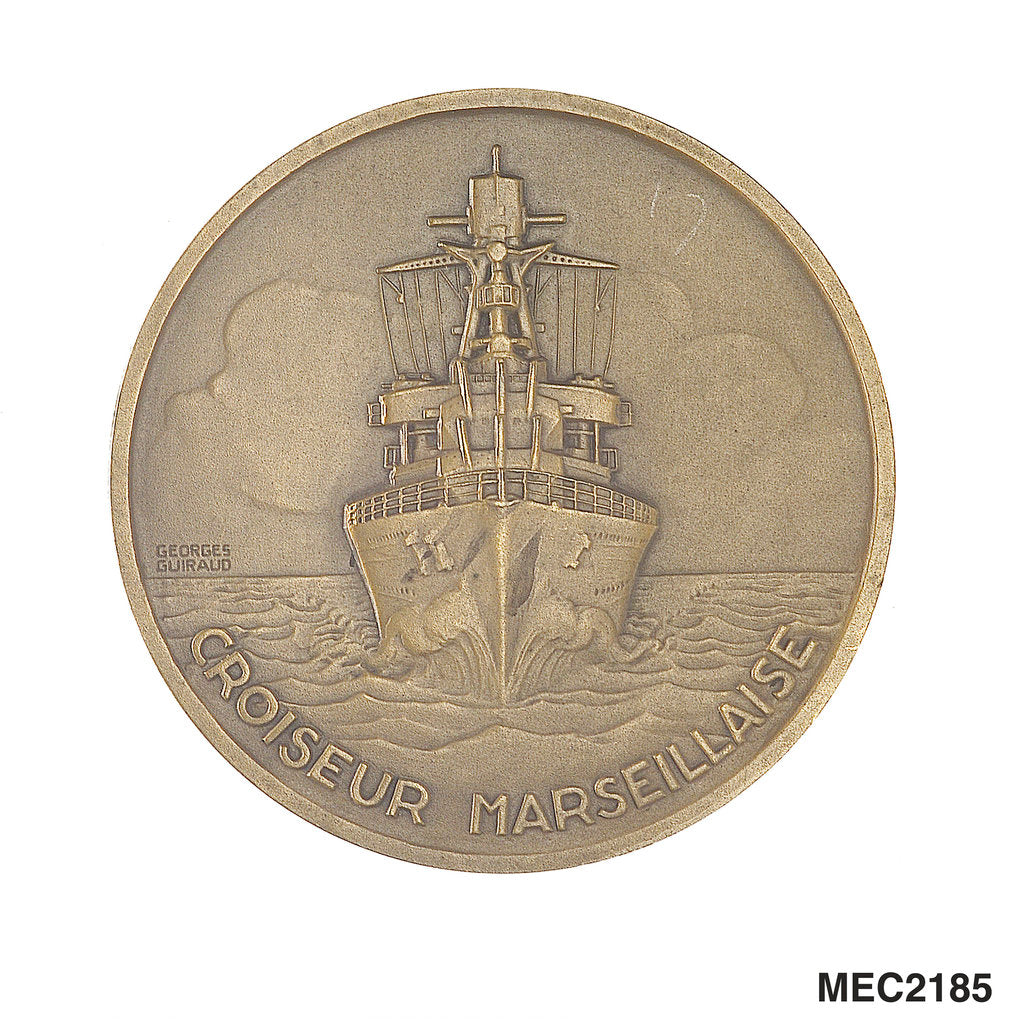Detail of Medal commemorating the cruiser 'Marseillaise' by G. Guiraud